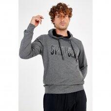 Maraton džemperis vyrams su gobtuvu